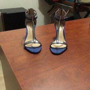 Blue semi heels